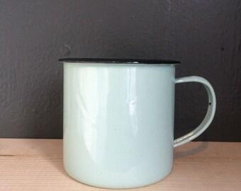 Robin Egg Blue Enamelware Mug