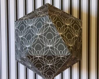GRAPHIC#08 - Paper suspension - Black and white Art Deco Pattern