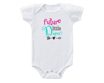 Future Little Diva Onesie Bodysuit for Infant, Baby Shower Gift