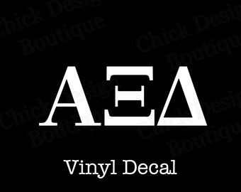 alpha xi delta greek alphabet letters vinyl decal