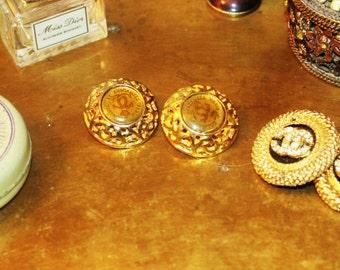 channel paris vintage clip on earrings