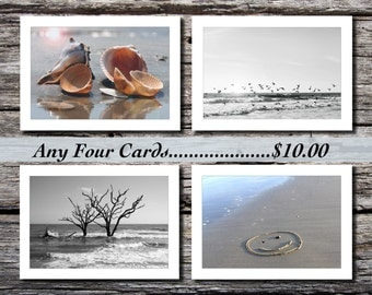 Handmade Photo Note Cards, Pick any 4 for 10.00