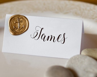 Nautical Wedding Table Name Settings