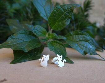 Earrings silver / pending cat / Cat / Kitty earrings / Sterling silver earrings / Cat earrings / Kitty earrings / cat / Kitty