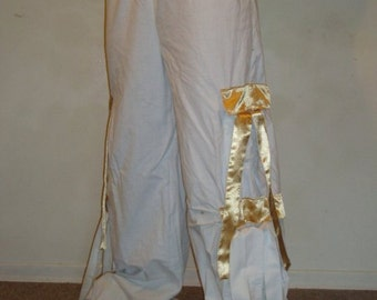 White and Gold Pants