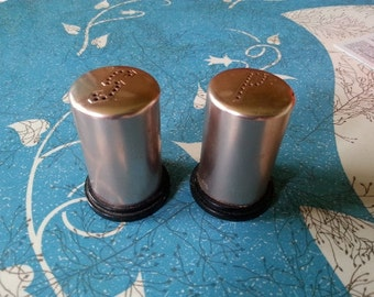 Aluminum Salt and Pepper shakers Vintage Pink/Copper Made in USA
