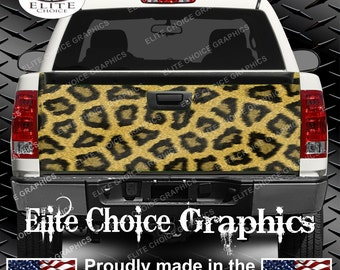 Leopard Print Truck Tailgate Wrap Vinyl Graphic Decal Sticker Wrap