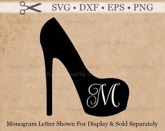 STILETTO Svg, Png, Dfx, Eps, Stiletto Shoe Svg, High Heel Svg, High Heel Monogram Frame,  Silhouette , Cricut , SCAL, Svg Vector, Shoe SVG