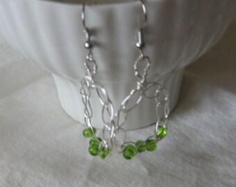 Wire Crocheted Earrings