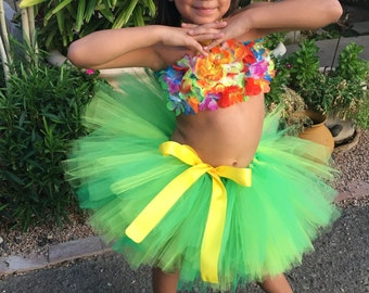 Ready to ship Hawaiian Tutu Set....Perfect for Luau Party, birthdays, Halloween and photo sessions!