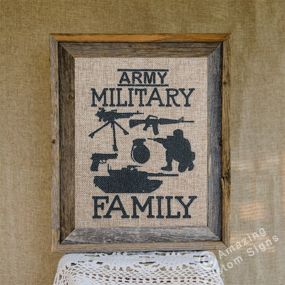 Military Home Decor Sign Army Military By AmazingCustomSigns