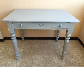 Old weathered gray table