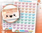 60 Cute Credit Card Planner Stickers, Filofax, Erin Condren, Happy Planner, Kawaii, Cute Sticker, UK