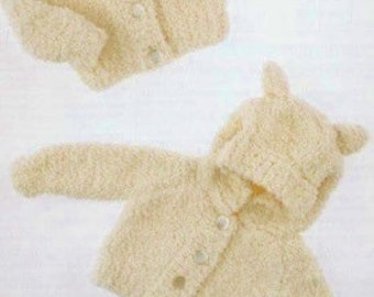 Baby Knitting Pattern Hoodie With Ears : Hoodie with ears Etsy