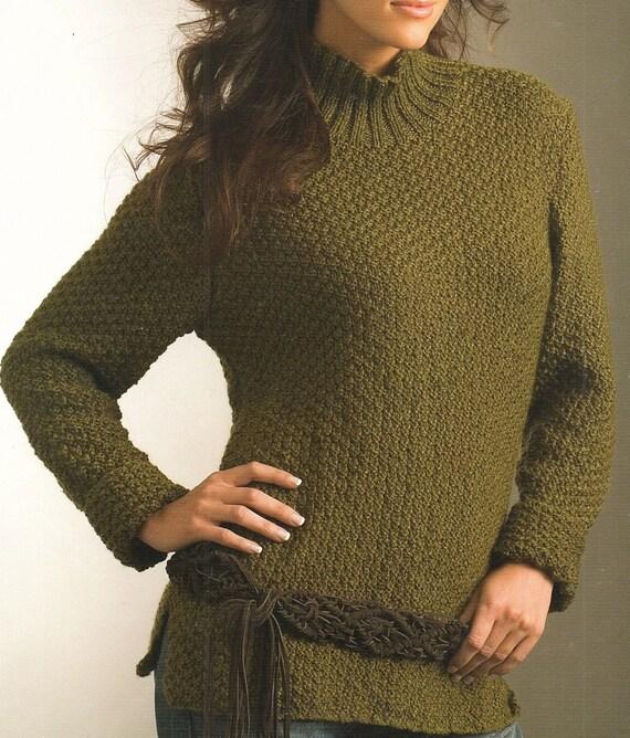 Ladies Tunic Knitting Patterns : Ladies Long Sleeve Tunic, Knitting Pattern. PDF Instant Download. from Krohsh...
