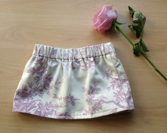 Pink and Cream Vintage Cotton Baby Girls Skirt