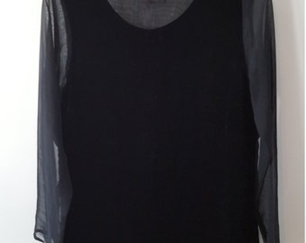 Velvet top- Sheer Black