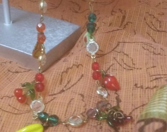 Vintage Glass Fruit Choker