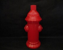 1970's Avon Electric Pre-shave Red Fire Hydrant Decanter