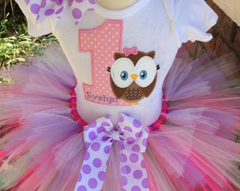 So Affordable Owl Look Whoo's Birthday Party Tutu Outfit Dress Set Handmade