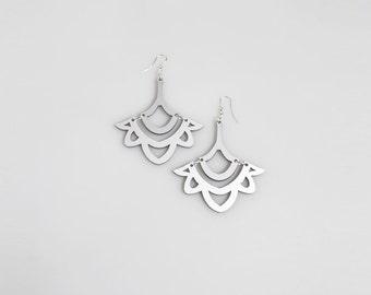 Hathor Silver Maxi Earrings