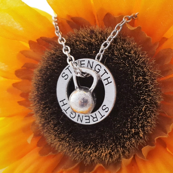 CrossFit Jewelry, Kettlebell Necklace, Kettle Bell Jewelry, Cross Fit Charms, Fitness Jewelry, Motivational Jewelry, Unique Kettlebell Charm