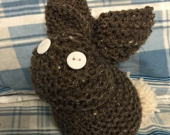 Brown Stuffed homemade bunny