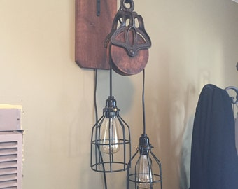 Barn pulley light