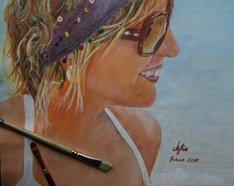 Custom Acrylic Portrait Personalized Gift, Birthday gifts, Gifts For darling 35*50 cm