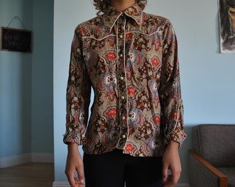 Size small vintage 70s western shirt