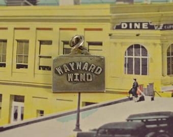 Wayward Wind Charm / Pendant Sterling Silver 5.6g Vintage Estate