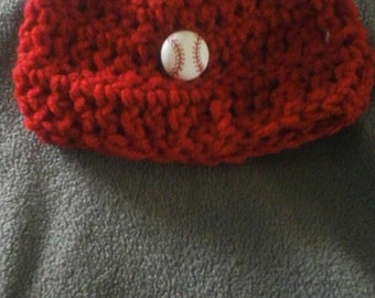 Baby baseball beanie hat. Size 0-6 months