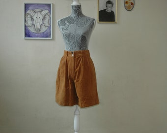 Tan Suede Scout Shorts