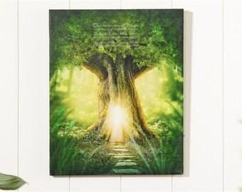 Large Enchanted Garden LED Canvas