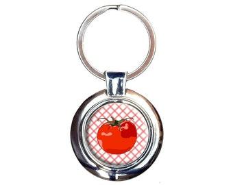 Tomato Keychain Key Ring