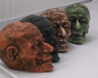 Zombie, Abner, Zombie head, Zombie sculpture, Zombie paperweight, Zombie gear shift knob