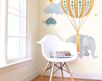 Soaring Elephant - Fabric Wall Decal - Nursery Daydreams - Mej Mej