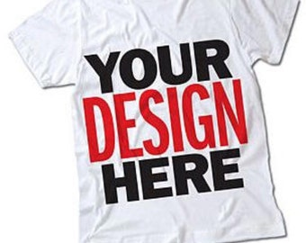 Custom screen printed long sleeve or short sleeve t-shirts