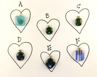 Fused glass pendants