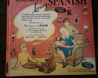 Vintage Children's Living Spanish lessons package