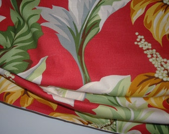 Crimson and Amber Tropical Balloon Valance