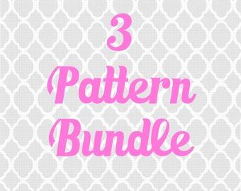 3 Pattern Bundle - Crochet pattern bundle, pick 3 patterns and save discount free pattern