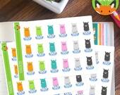 Doctor Llama Medical Sick Day Sticker Set - Planner Stickers - Planner Decorations - Kikki-K & Erin Condren Sticker Sets