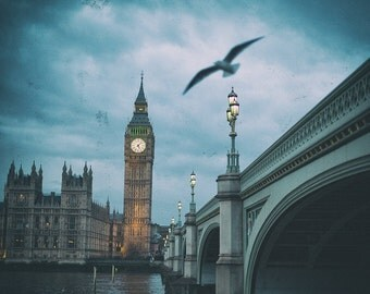 Big Ben London Fine Art Photography - London Prints - London Decor - Houses of Parliament Photo - London Photo Prints - River Thames