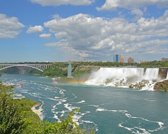 Niagara Falls New York Rainbow Metallic Art Print 8 X 12