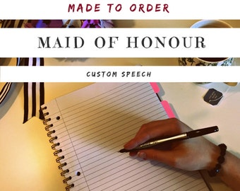Personalized Maid of Honour Speech