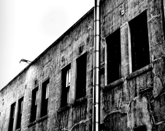 Downtown black and white wall art high resolution 6.7 MB