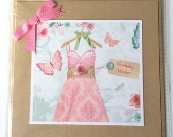 Birthday Frock Greetings Card