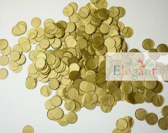 Metallic gold TISSUE PAPER CONFETTI/ wedding confetti , table confetti,confetti toss, ballon confetti, Bridal Shower, Baby Shower, Weddings