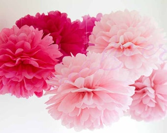 Paper Pompom 22 flower balls, tissue paper, wedding decoration, party, events, decoration, pom pom, baby shower